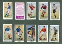 TRADE/ cigarette cards set Famous Footballers 1955 D.C. Thompson Wizard  comics